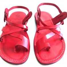 Sandale Piele Naturala Deget Rosii
