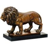 Leu - statueta din bronz pe soclu din marmura JK-20, Animale