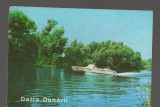 CPIB 17186 CARTE POSTALA - DELTA DUNARII, VEDERE, SALUPA, Circulata, Fotografie