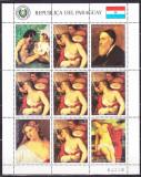 DB Arta Picturi Paraguay Tizian nuduri MS   MNH