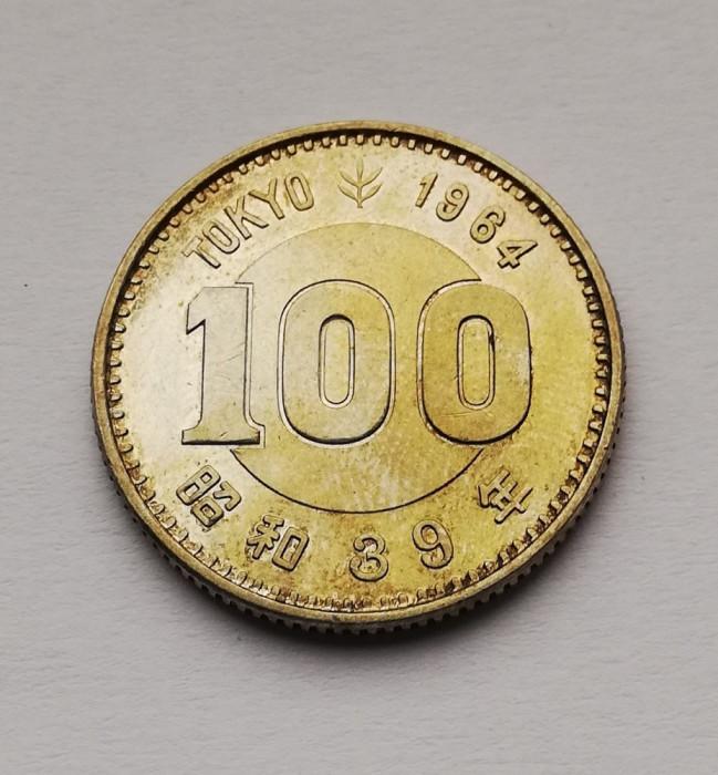 Japonia - 100 Yen 1964 - Olimpiada Tokio - Argint (L9)