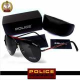 Ochelari Soare POLICE Polarizati Rama Metal - Model Rosu Negru