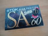 TDK SA 60 Black Limited! Chrome! Sigilata. Raritate!