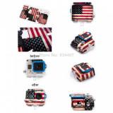 Sticker protectie steag USA retro pentru GoPro Hero 3 GP49