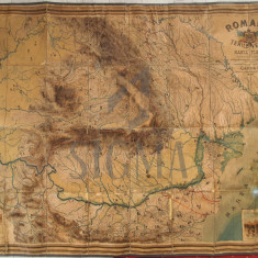HARTA Fizica, ROMANIA SI TERILE VECINE, CAROL I, 1899
