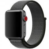 Cumpara ieftin Curea iUni compatibila cu Apple Watch 1/2/3/4/5/6, 42mm, Nylon Sport, Woven Strap, Midnight Gray