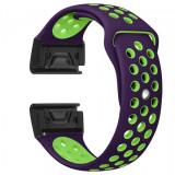 Curea ceas Smartwatch Garmin Fenix 3 / Fenix 5X, 26 mm iUni Silicon Sport Mov-Verde