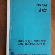 Date si norme de reparatie pentru motorul D 127  UTB / C32P