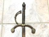 Sabie veche franceza,pentru panoplie, cu maner din bronz