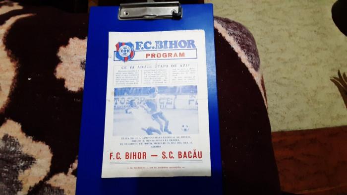 program FC Bihor - SC Bacau