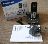 Telefon fix cu receptor fara fir Panasonic (cordless, digital, DECT)
