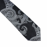 Cravata neagra paisley Brom, ONORE