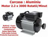 Motor electric 2.2kw , cu 3000 rotatii , monofazic , Fulie DUBLA ,MODEL 2020 NOU