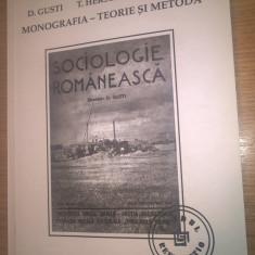D. Gusti; T. Herseni; H.H. Stahl - Monografia - Teorie si metoda (Paideia, 1999)