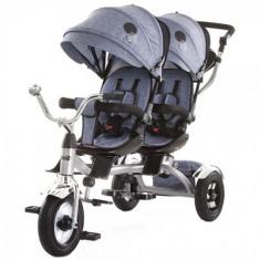 Tricicleta Gemeni Tandem Grey, Chipolino