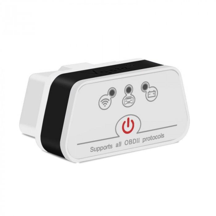 Interfata Diagnoza Multimarca Vgate, ICar2, White-Black, Bluetooth, OBD2