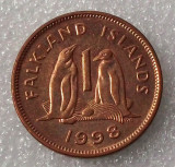 G5. FALKLAND ISLANDS 1 PENNY 1998 Copper Plated Steel, 20.3 mm **