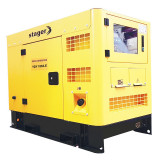 Generator insonorizat Stager, 16 kVA, 23 A, 1500 rpm, 100 l, diesel, trifazat, conector ATS, display digital