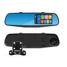Camera auto DVR cu montare pe oglinda retrovizoare+camera spate