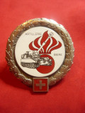 Insigna militara Elvetia - Biere - Artileria , metal si email ,d=5cm