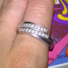 inel  ARGINT 925  dragut zirconiu alb  SUPERB !