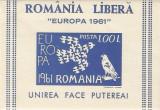 Spania/Romania, Exil romanesc., em. a XXV-a, Europa 1961, colita ned., 1961, MNH, Nestampilat