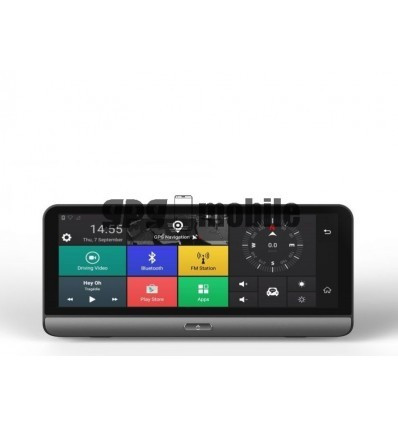 Dash Cam DVR 4G, Android 5.0, GPS, 8 inch, 1GB RAM, camera spate