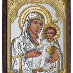 Icoana Argint Maica Domnului de la Ierusalim 28X5X37cm Cod Produs 2593