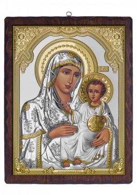 Icoana Argint Maica Domnului de la Ierusalim 28X5X37cm Cod Produs 2593 foto