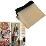 Perdele anti insecte cu magneti Magic Mesh culoarea Bej 210 x 100 cm