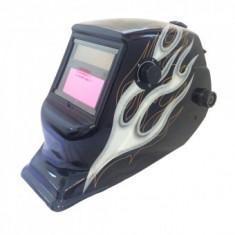 Masca de sudura Strend Pro Silver Flame, cu cristale lichide