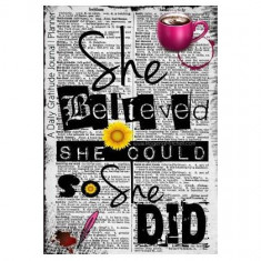 She Believed She Could So She Did - A Daily Gratitude Journal - Planner