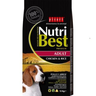 Hrana uscata pentru caini cu pui si orez, Nutribest Dog Premium Adult, 15 Kg foto