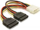 Cumpara ieftin Adaptor alimentare molex (ide)- 2 x SATA, cablu 15cm, multiplicator s-ata