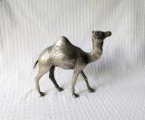 Statueta metal argintat dromader / camila, statueta deosebita decor