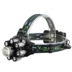 Lanterna de cap BL-T85-8 cu 8 LED si 6 faze lumina