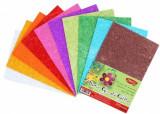 Hartie gumata glitter 20x30 cm set 10 culori asortate