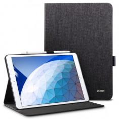 Husa de Protectie ESR Simplicity pentru Apple iPad Air 3 2019 Smart Sleep&Pen Slot Negru