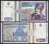 Romania, 5000 lei 1993, UNC_serie G.0021-346286