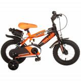 Cumpara ieftin Bicicleta Sportivo Portocaliu 12 inch cu 2 Frane de Mana si Sticla Apa