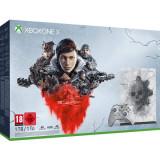 Consola Microsoft Xbox One X 1TB Editie Limitata Gears 5, Gri-Crimson Omen, include joc Gears 5 Ultimate Edition + toate jocurile din seria Gears of W