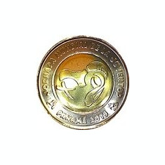 Panama 1 Balboa 2019 - (Logo ZMT ) Bimetalic, 26.5mm, KM-New UNC !!!, America de Nord