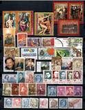 PESTI, CIUPERCI, PICTURA, ANIVERSARI, FLORI, TIMBRE DIVERSE STAMPILATE, SD226