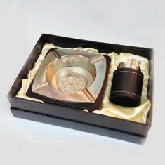 Set cadou Lux scrumiera si bricheta