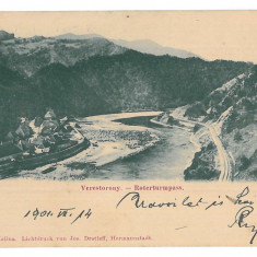 3697 - TURNU ROSU, Sibiu, railway, Litho, Romania - old postcard - used - 1901, Circulata, Printata