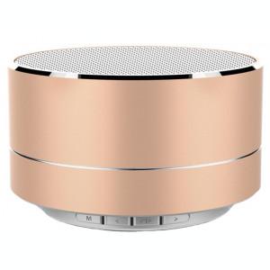Boxa Portabila Bluetooth iUni DF11, Slot Card, Radio, Metal, Gold