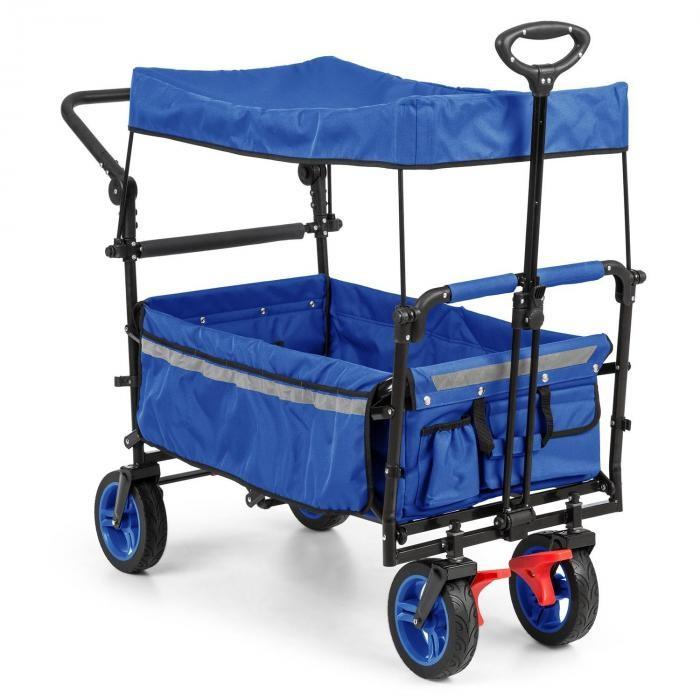 Waldbeck Easy Rider, cărucior cu acoperiș de până la 70 kg, telescopic, albastru