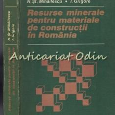 Resurse Minerale Pentru Materiale De Constructii In Romania