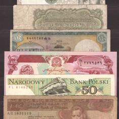 Lot 7 bancnote straine circulate si necirculate