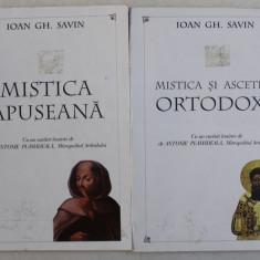 MISTICA APUSEANA / MISTICA SI ASCETICA ORTODOXA de IOAN GH. SAVIN , VOLUMELE I - II , 1996